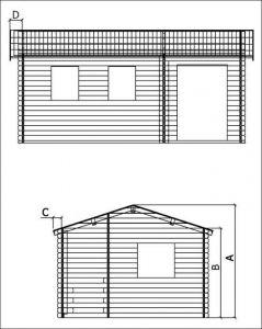 Víkendová chata VÍKEND 1-rozměry