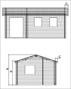 Víkendová chata VÍKEND 2-rozměry