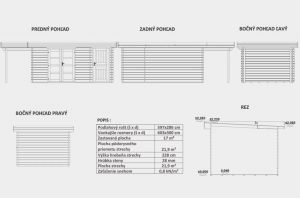 Zahradní chatka MARIANA 3 - 28,moderní zahradní domek, moderní dřevěná chatka Výrobce 3
