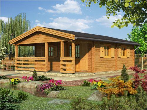 Srubová rekreační chata, dřevěná chata, srub
