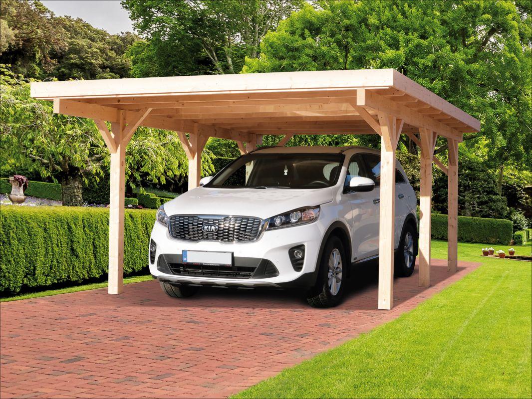 Masivní garážové stání, dřevěné stání na auto