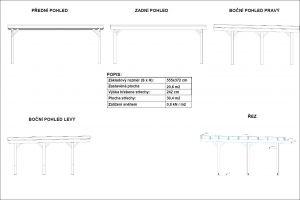 Carport PULT na 2 auta, garážové stání, dřevěné stání na auto, pergola na auto Výrobce 3