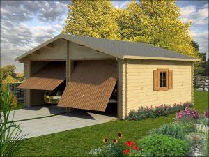 Dřevěná garáž na 2 auta