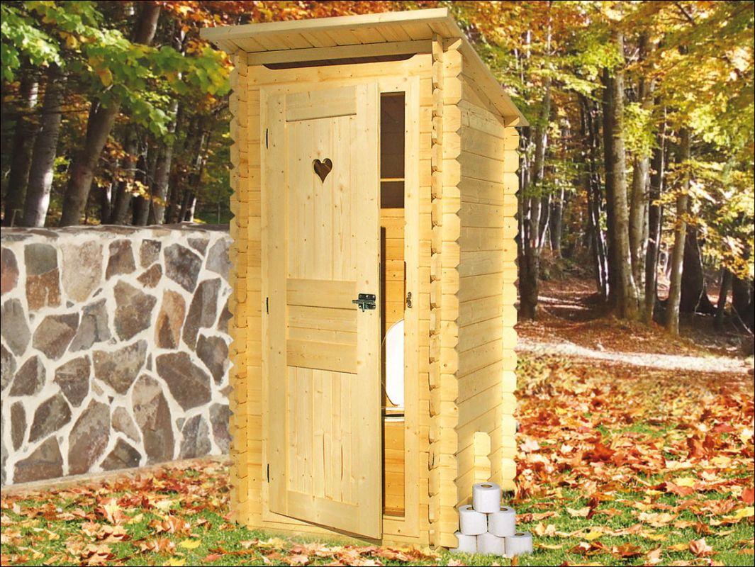 Dřevěné wc, zahradní toaleta, kadibudka
