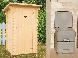 Dřevěné WC CHEM - zahradní toaleta na chemické wc