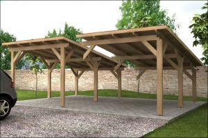 Garážová stání s pultovou střechou