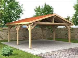 Garážová stání se sedlovou střechou