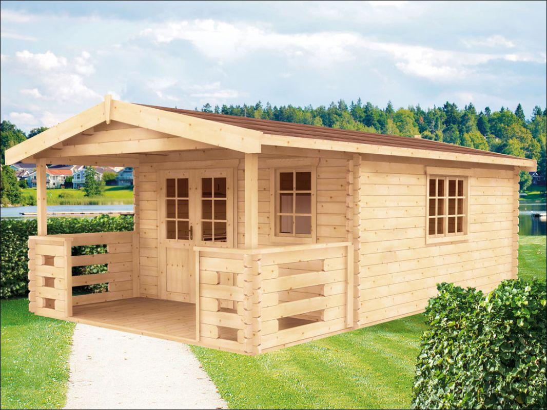 Srubová zahradní chatka, dřevěný zahradní domek