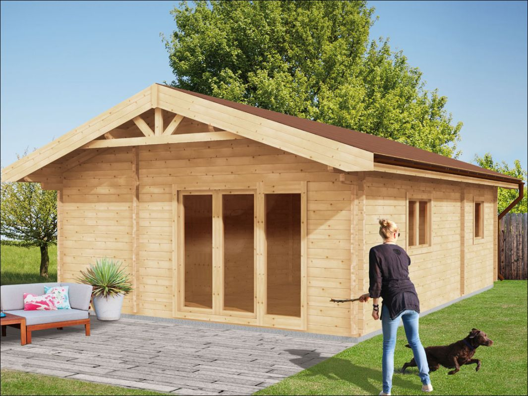 Srubová dřevěná chata
