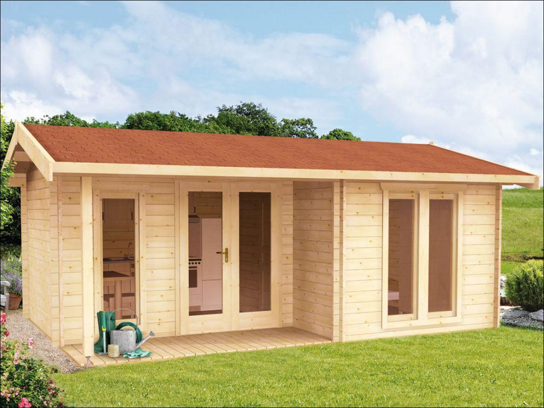 Dřevěná zahradní chata srubová