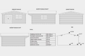 Zahradní domek Zora dispoziční plán