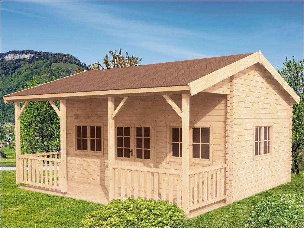 Dřevěná chata Libor s patrem na spaní