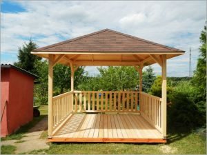 Zahradní altán dřevěný 4 boký