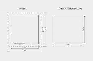 Zahradní chatka FÉNIX,moderní zahradní domek, moderní dřevěná chatka Výrobce 3