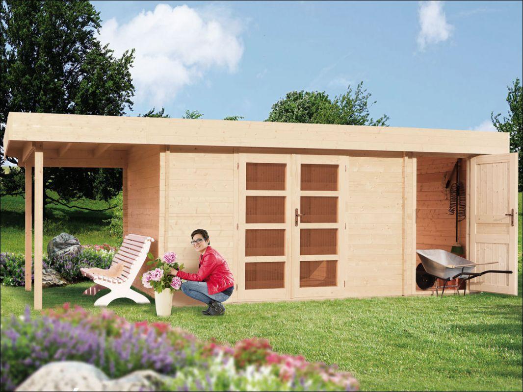 Moderní dřevěná zahradní chatka