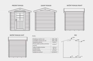 zahradní domek Moris dispoziční plán