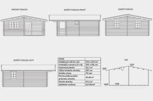 Víkendová srubová chata DENY ,síla stěny 70 mm, dřevěná chata, rekreační chata , zahradní chata. Výrobce 3