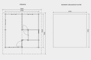 Víkendová srubová chata DENY ,síla stěny 80 mm, dřevěná chata, rekreační chata , zahradní chata. Výrobce 3