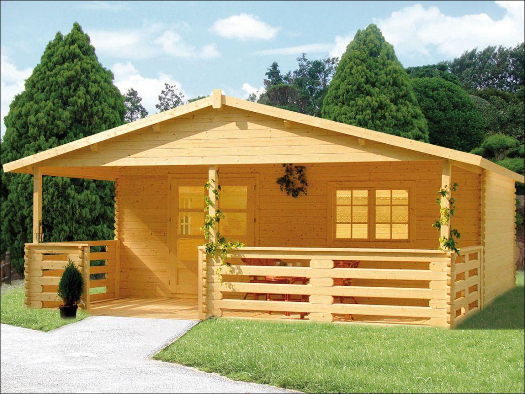 Srubová chatka, zahradní chata, dřevěná chata k rekreaci