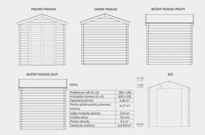 Zahradní domek Julius aktion, síla stěny 18mm, domek na nářadí. Výrobce 3