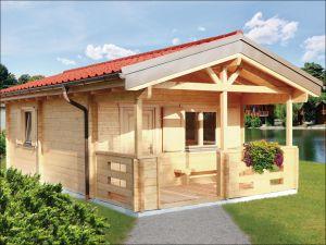 Srubová zahradní chatka, dřevěná chata