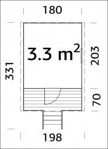 Dětský hrací domeček BUCK, dřevěný dětský domek, zahradní domek pro děti Výrobce 3