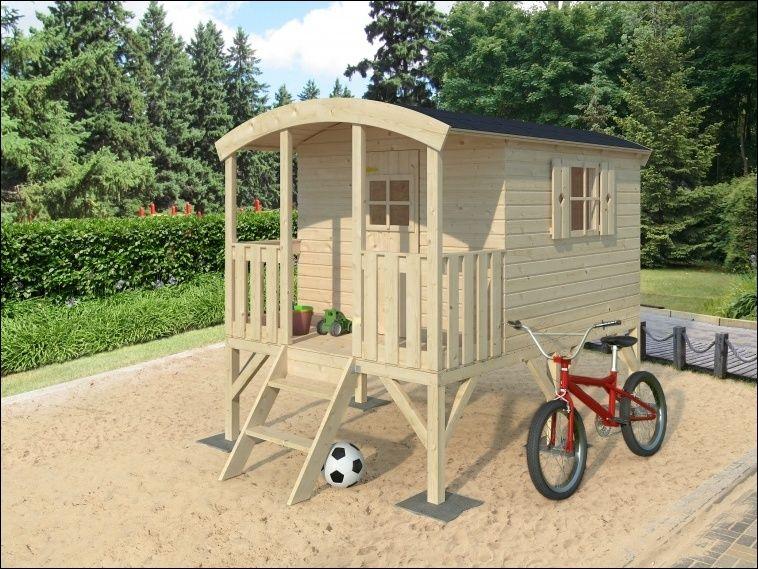 Dětský dřevěný domek, dětský hrací domek, chatka pro děti