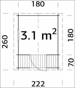 Dětský hrací domeček LINA síla stěny 19 mm, dřevěný dětský domek, zahradní domek pro děti Výrobce 3