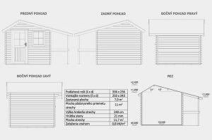 Domek na nářadí Ariel 21, zahradní domek, síla stěny 21 mm chatka na nářadí. Výrobce 3