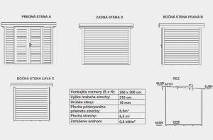 Moderní zahradní chatka LORA 1, síla stěny 18mm. Moderní domek na nářadí, nářadový domek Výrobce 3
