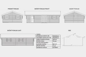 Rekreační srubová chata Karolína 70, dřevostavba, srub, Výrobce 3