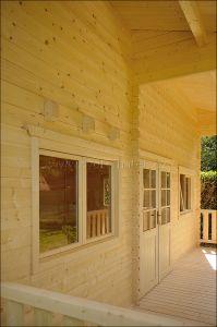 Víkendová chata LIBOR 2 s patrem na spaní,síla stěny 70 mm, dřevěná chata,zahradní chata, srubová chata, dřevostavba Výrobce 3