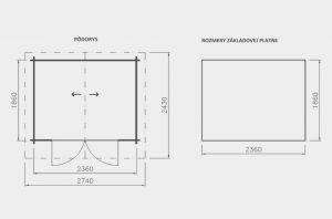 Zahradní chatka Alex 1,síla stěny 21 mm. Domek na nářadí, chatka na nářadí, nářaďový domek Výrobce 3