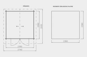 Zahradní chatka Alex 2,síla stěny 21mm. Domek na nářadí , chatka na nářadí, dřevěná chatka Výrobce 3