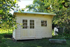 zahradní domek B 41 s pultovou střechou