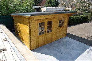 Zahradní chatka B41, síla stěny 28 mm. Domek na nářadí B41. Výrobce 3