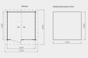 Zahradní chatka David 2, síla stěny 21 mm. Domek na nářadí, zahradní chatka Výrobce 3
