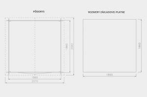 Zahradní chatka LUIS,síla stěny 18 mm. Nářaďový domek.Chatka na nářadí. Výrobce 3