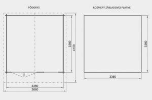 Zahradní domek Bruno A2, síla stěny 28 mm. Nářaďový domek, zahradní chatka, dřevěná zahradní chata. Výrobce 3