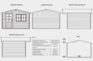 Zahradní domek Julie A2, síla stěny 28 mm. Nářaďový domek, zahradní chatka, dřevěná zahradní chata. Výrobce 3