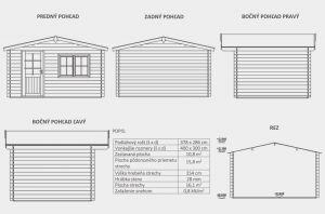 Zahradní domek Julie B1, síla stěny 28 mm. Nářaďový domek, zahradní chatka, dřevěná zahradní chata. Výrobce 3