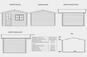 Zahradní domek Julie B2, síla stěny 28 mm. Nářaďový domek, zahradní chatka, dřevěná zahradní chata. Výrobce 3