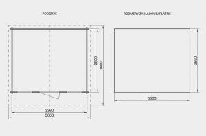 Zahradní domek Martina A1, síla stěny 28 mm. Nářaďový domek, zahradní chatka, dřevěná zahradní chata. Výrobce 3