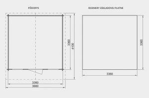 Zahradní domek Martina A2, síla stěny 28 mm. Nářaďový domek, zahradní chatka, dřevěná zahradní chata. Výrobce 3