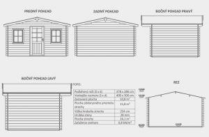 Zahradní domek Martina B1, síla stěny 28 mm. Nářaďový domek, zahradní chatka, dřevěná zahradní chata. Výrobce 3