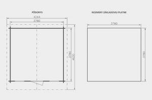 Zahradní domek Martina B2, síla stěny 28 mm. Nářaďový domek, zahradní chatka, dřevěná zahradní chata. Výrobce 3