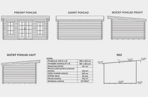 Marie A, zahradní chatka, srubová chata, dřevěná zahradní chata, zahradní domek Výrobce 3