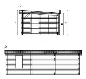 FIALKA - víkendová chata, Srubová chata, dřevěná chata, zahradní chata, chata na zahradu Výrobce 1