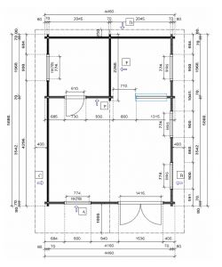 Víkendová srubová chata ALPINA 70 bez terasy s galerií, zahradní chata s galerií, dřevěná chata, dřevostavba na zahradu Výrobce 3