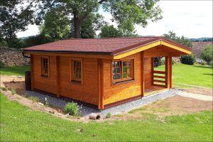 Víkendová srubová chata DENY ,síla stěny 50 mm, dřevěná chata, rekreační chata , zahradní chata. Výrobce 3